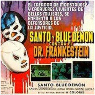 Dos gallos en apuros – Santo y Blue Demon VS el Dr. Frankestein